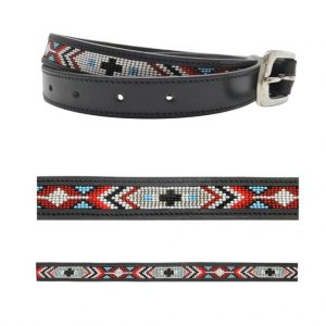 Leather Belt, African Style